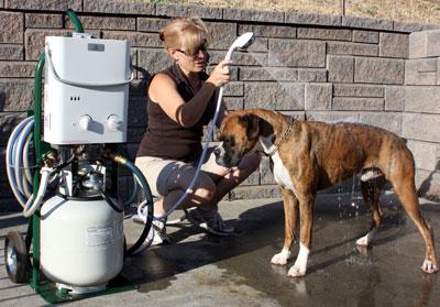 Decker's Portable Hot Water Pet Shower
