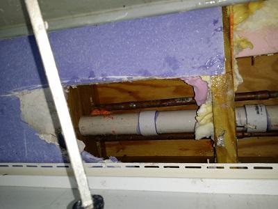 freezing machine plumbing